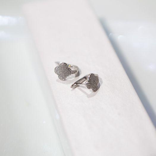 Срібні сережки Чотирилисник