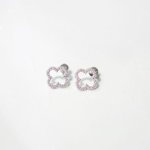 Срібні сережки Контур