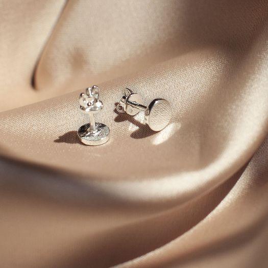 Серебряные серьги без вставок Дольче