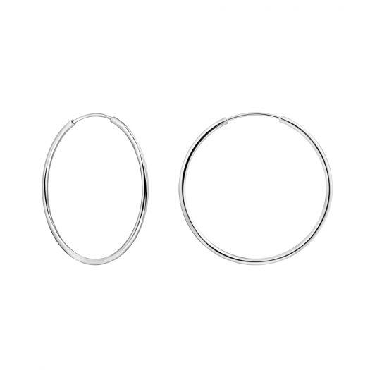 Срібні сережки Конго 35 мм