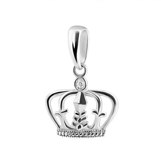 Серебряная подвеска Царская корона