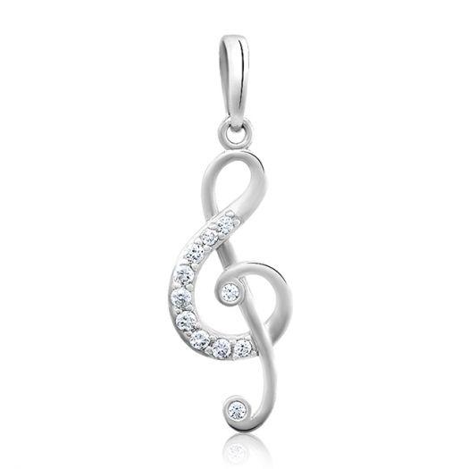 Серебряная подвеска Скрипичный ключ