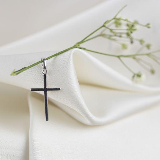 Срібний хрестик без вставок Таємниця