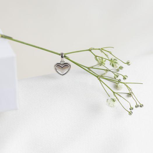 Срібна підвіска без вставок Серце