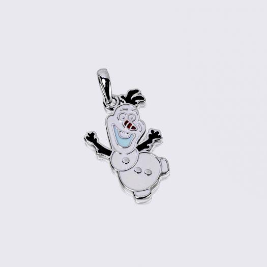 Серебряная подвеска Снеговик Олаф