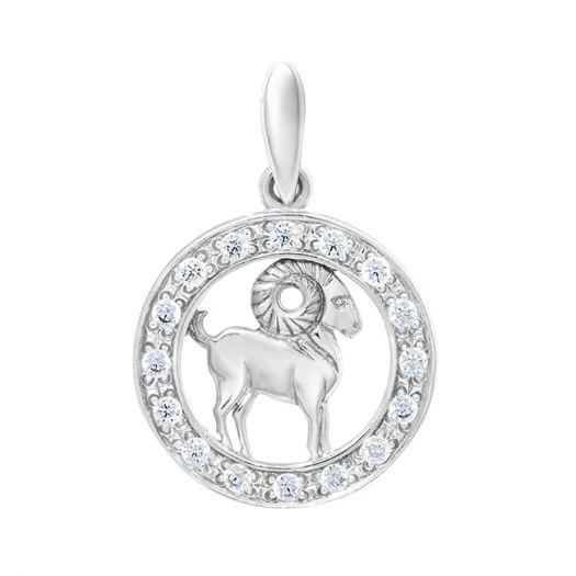 Серебряный подвес знак зодиака Овен