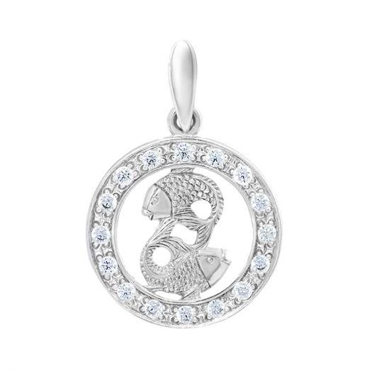 Срібний підвіс знак зодіаку Риби