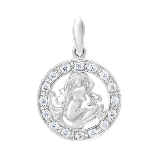 Срібний підвіс знак зодіаку Діва