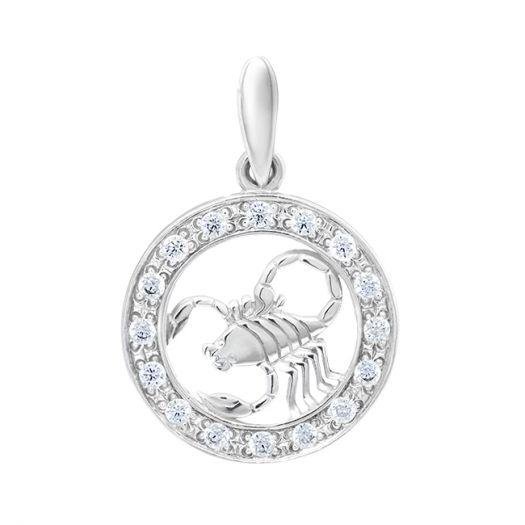 Срібний підвіс знако зодіаку Скорпіон