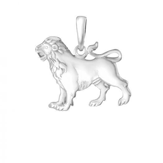 Срібна підвіска Лев