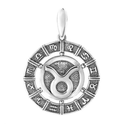 Срібна підвіска знак зодіаку Тілець