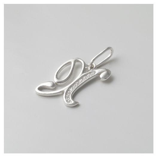 Срібна підвіска літера Х