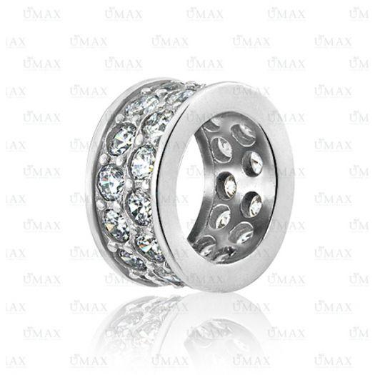 Срібний шарм-роздільник з цирконієм Ната