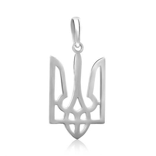 Серебряная подвеска Герб Украины большой
