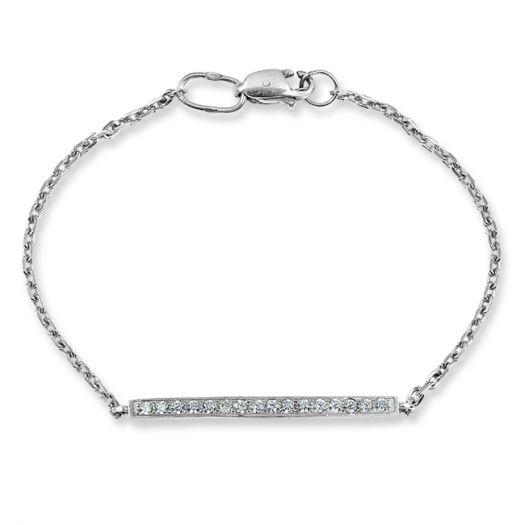 Срібний браслет Горизонт