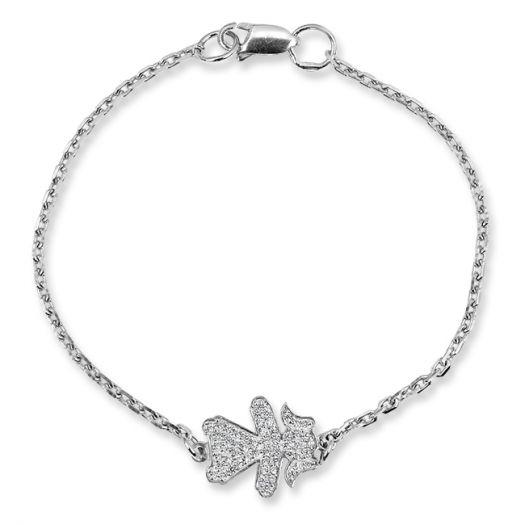 Срібний мама-браслет Донька