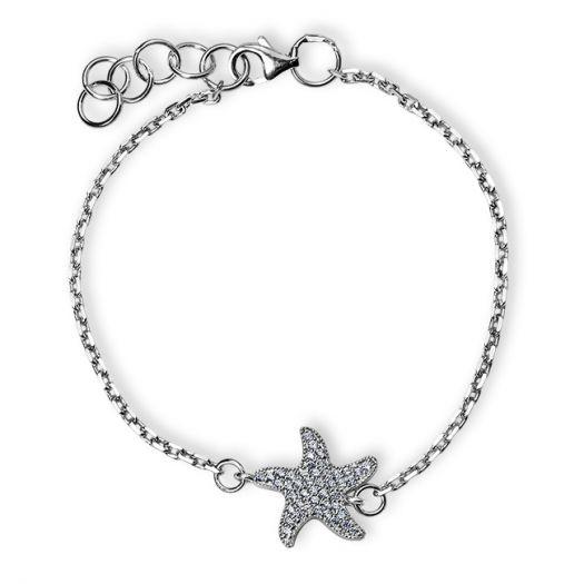 Срібний браслет Морська зірка