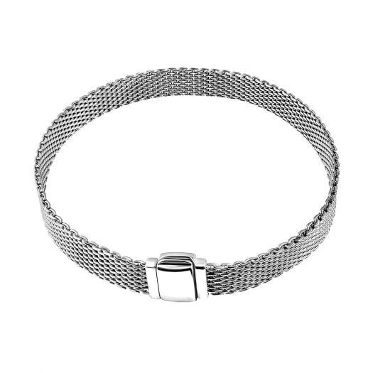 Срібний браслет плаский Загадка Пандори