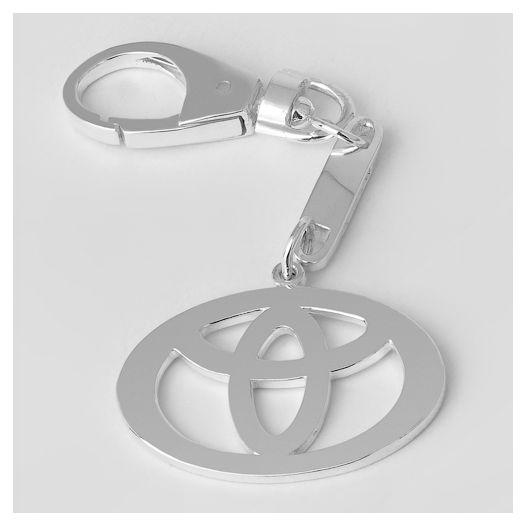 Срібний брелок для автомобіля Тойота