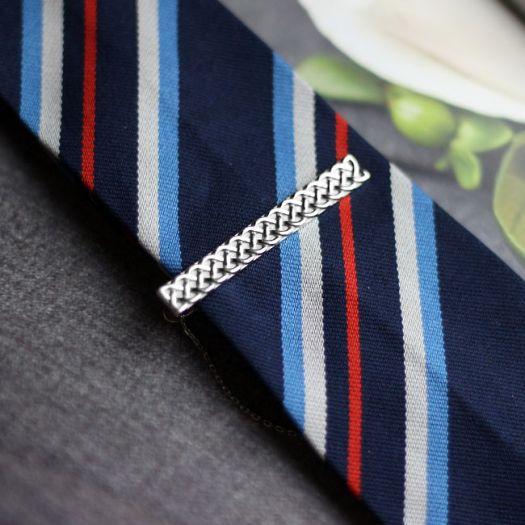 Срібний затискач для краватки Босс