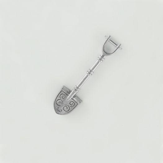 Срібний сувенір лопата-загребушка